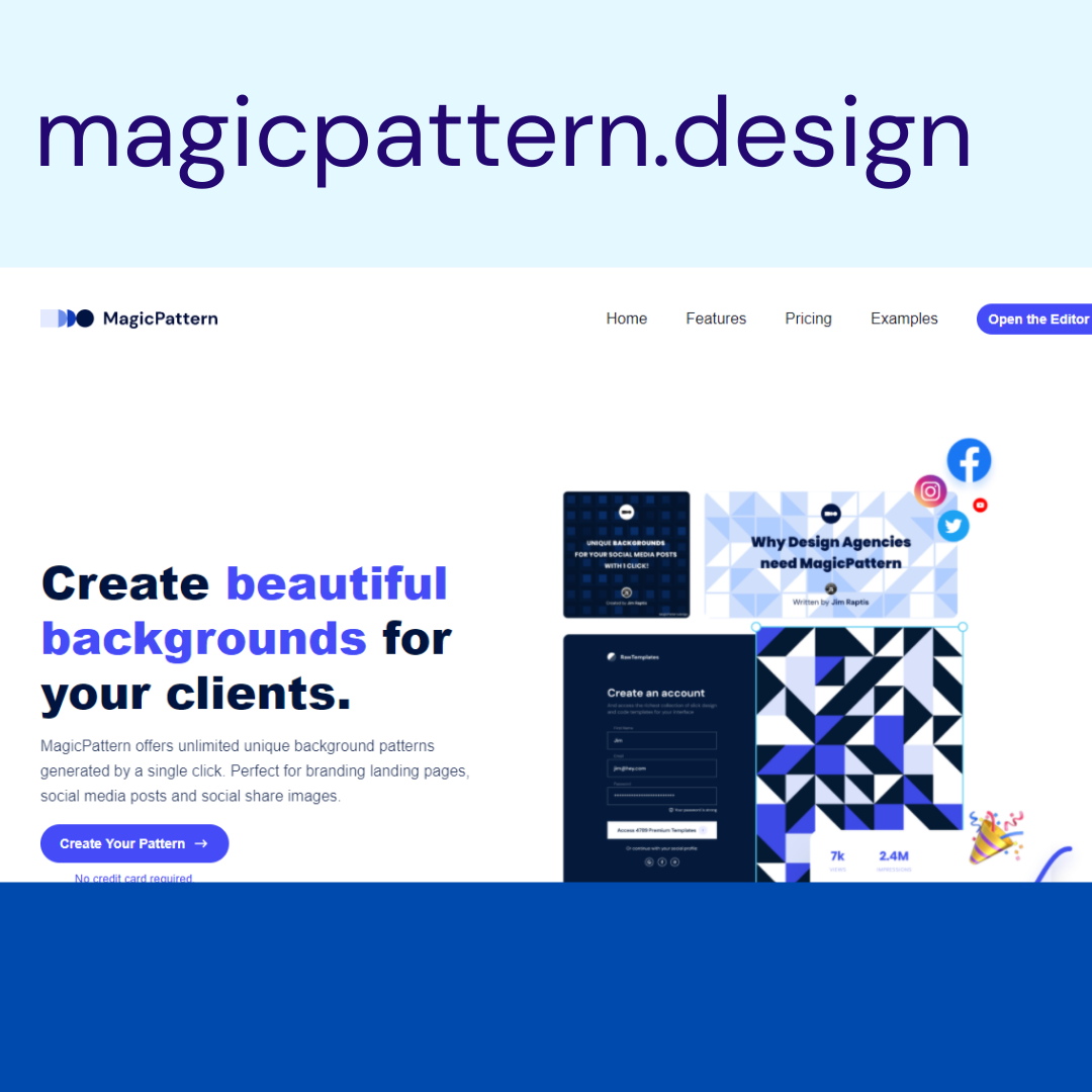 https://www.magicpattern.design/